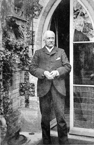 Canon Chichester outside the vicarage about 1915, Surrey