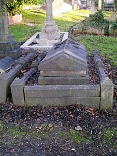 Rev. Charles Cubitt's grave in Woodvale Cemetery, Brighton,