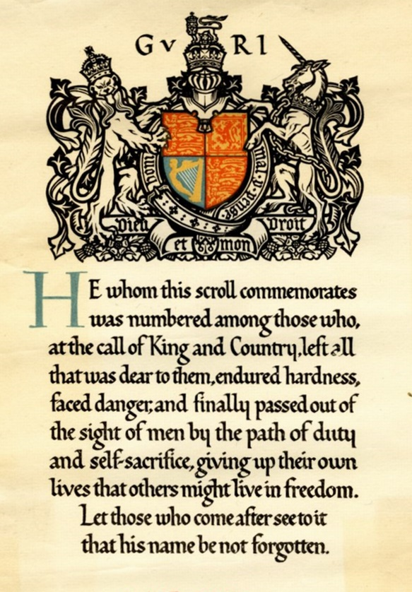 Commemorative scroll cropped