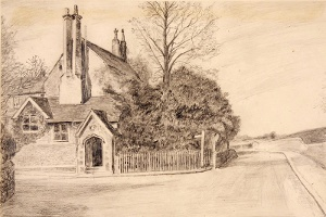 The Vicarage in which the Joyces lived, W H Dinnage (Dorking Museum)