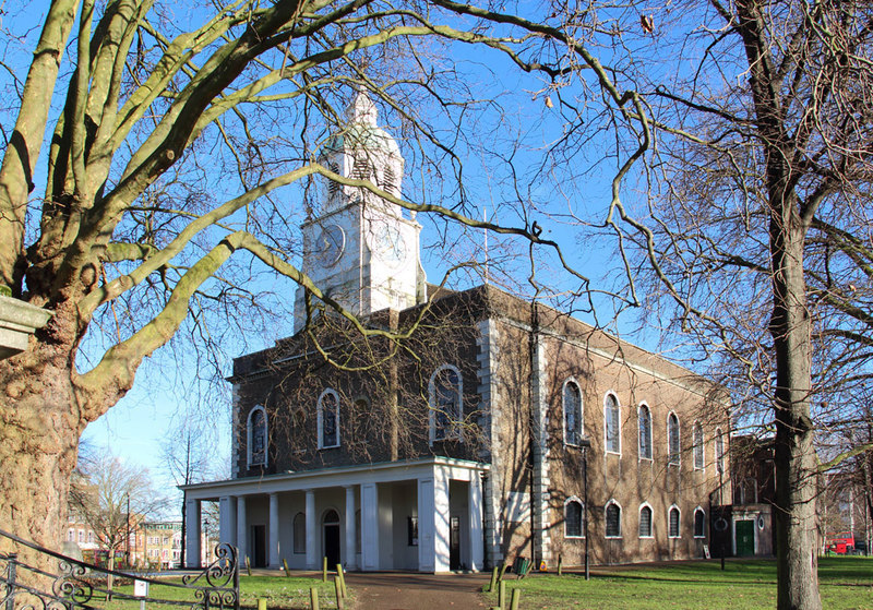 Holy Trinity Clapham where so many of Thomas Cubitt's family were baptised, married and ? buried.