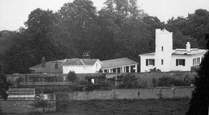 The estate buildings from which the new Denbies house was