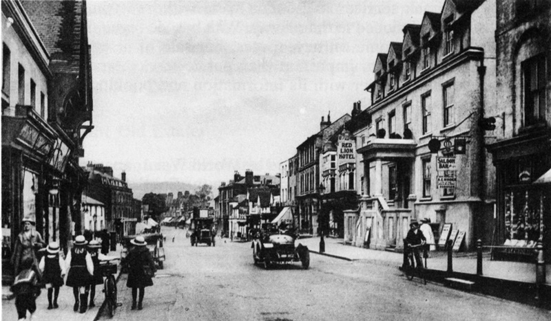 The Red Lion in 1919 (right), from the steps of which Henry Cubitt appealed for men to volunteer. ?John