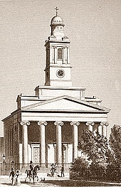 St Peter's Eaton Square in 1827, the year of its consecration. It had i