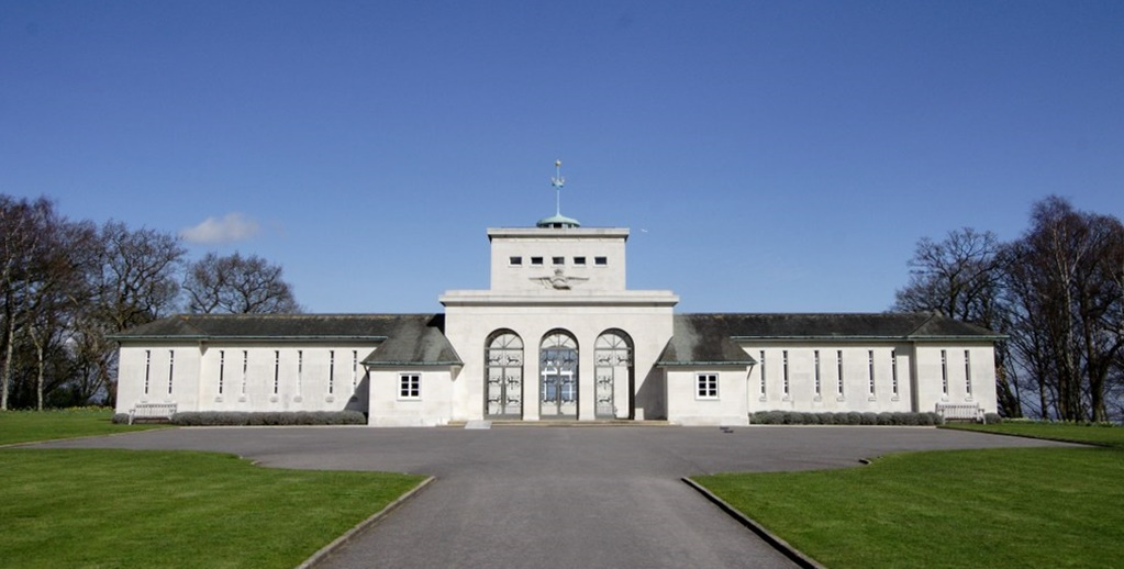 The Runnymede Memorial close up. It is usually seen from a distance high up on the hill above the River Thames near the site of... of Magna Carta. Photograph courtesy of the Commonwealth War