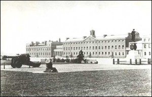 Royal Artillery Barracks, about 1900, check public domain