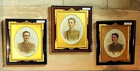 Portraits of the three Cubitt brothers by society photographer Vandyck, now hanging in the Cubitt Chapel, Brian Belton