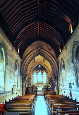 The nave and chancel of St Barnabas, Brian Belton