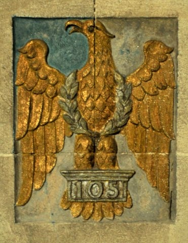 The badge of the Royal Dragoon in the Cubitt Chapel. The eagle recalls the regiment's capture at Waterloo of the Eagle standard of the Napoleon's 105th Infantry Regiment, Brian Belton