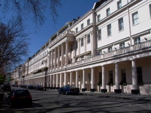 The particularly admired north side of Eaton Square typifying the Thomas Cubitt style of building (Geograph,