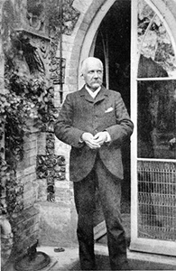 Canon Chichester outside the vicarage about 1915 (? Surrey History Centre, previously Record Office ?)
