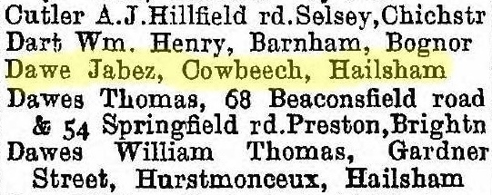 From Jabez Dawe's entry in the Builders' section of Kelly's 1918 Directory, credit….