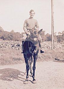Ken on horse outside Friston FullSizeRenderhorse1 cropped