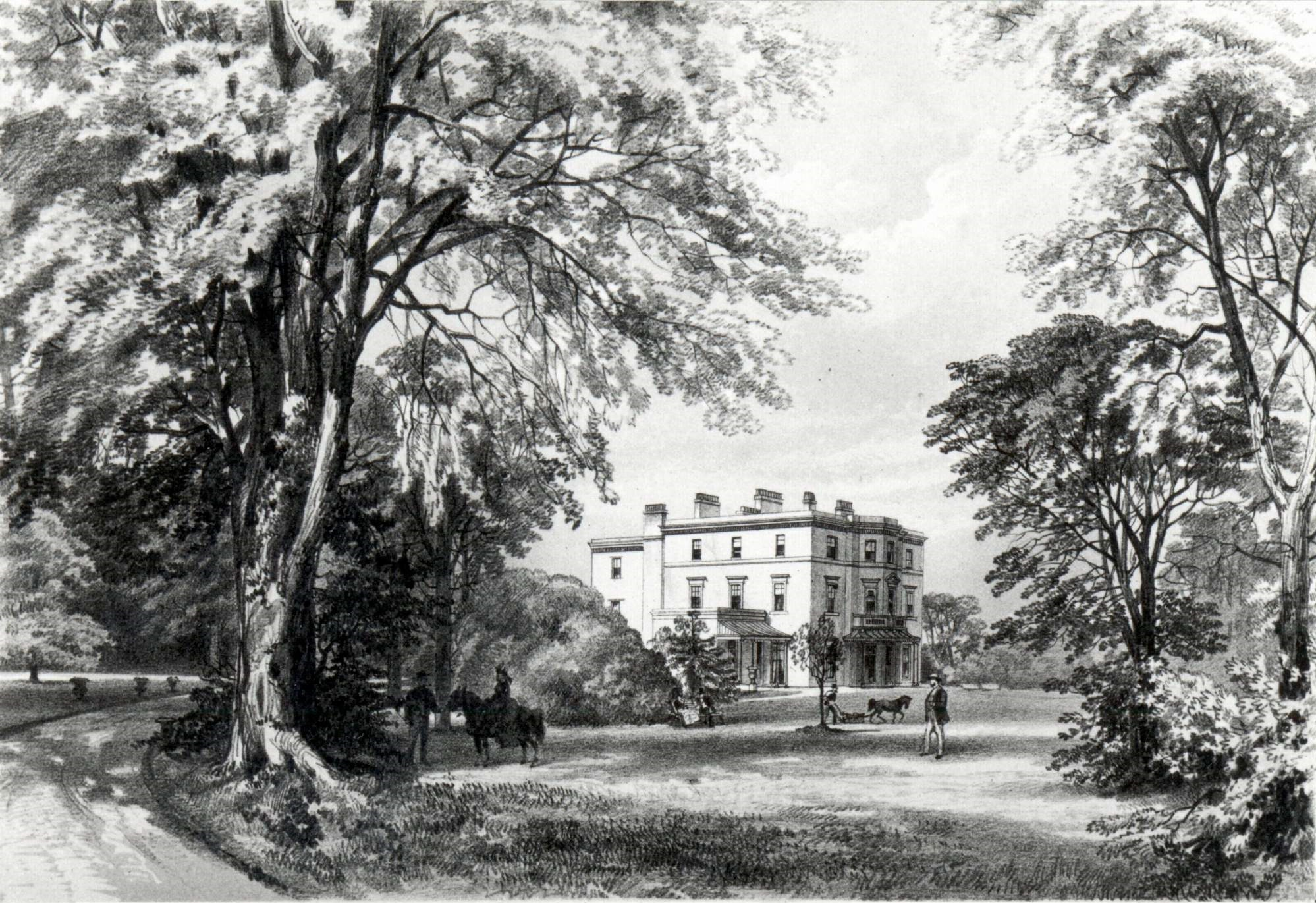 Lincoln House, Thomas Cubitt's house in Clarence Road, Clapham Park (reproduced by permission of London Borough of Lambeth, Archives Department)