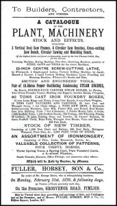 Sale catalogue of George Dines' workshop, copyright Steve Poole and the Dines family