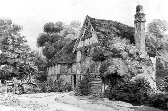 "Hogden Farm, Henry Edridge ARA (1879-1821), ""House on the Hill"", Fortescue"