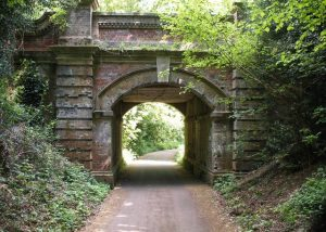 The bridge to allow the Mickleham Drive (North Downs Way) to pass under the railway (John