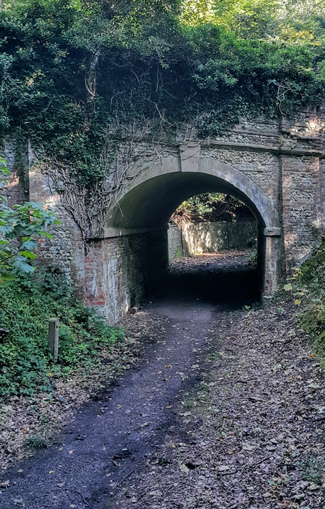 Tunnel under Ranmore Road leading to Denbies House (John Tacon)