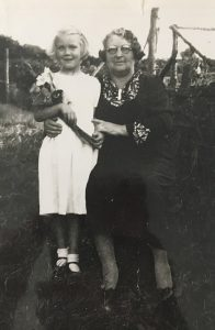 Mary Jane Wickham with a granddaughter