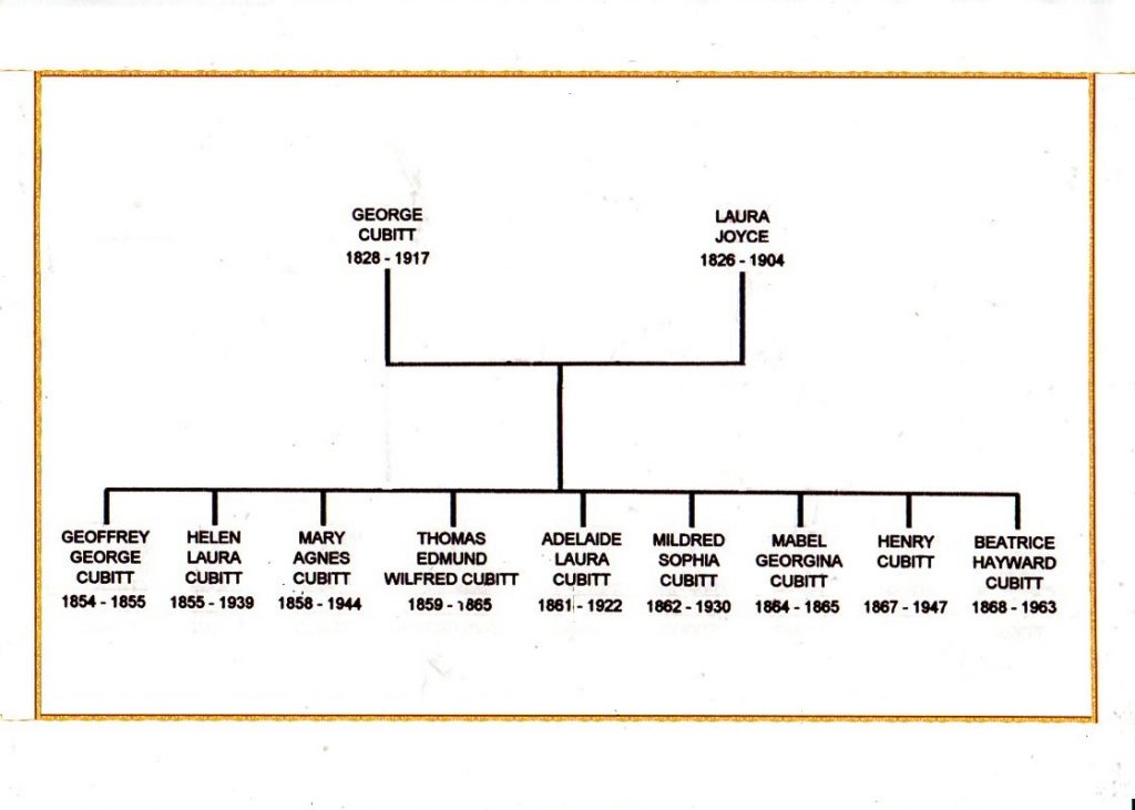 George Cubitt's family tree