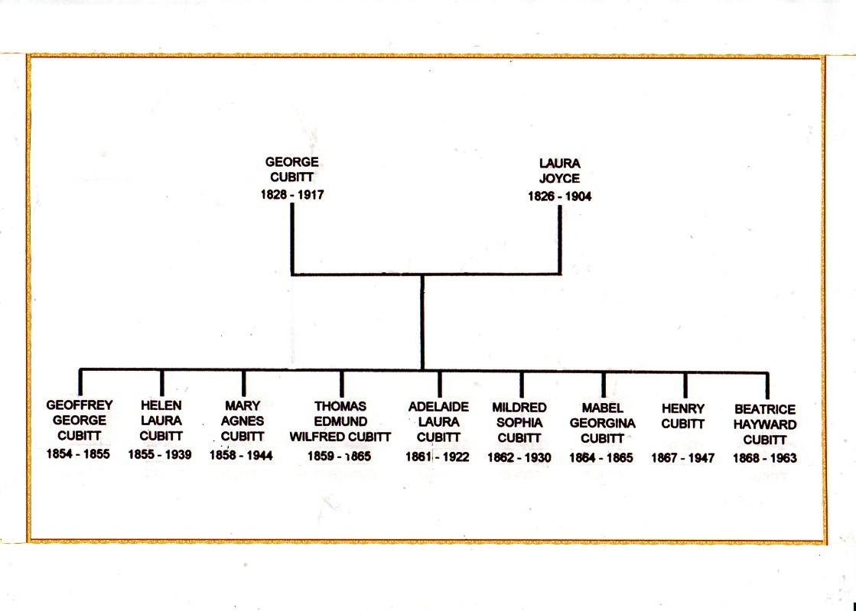 George Cubitt's family tree